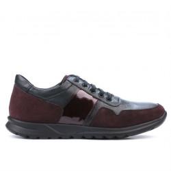 Pantofi sport barbati 846 bordo combinat