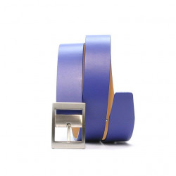 Women belt 02m blue electric