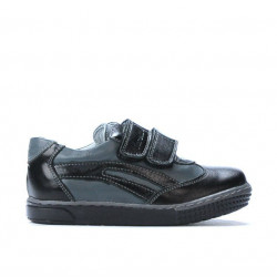 Small children shoes 16-2c black+gray
