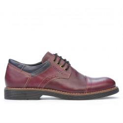 Pantofi casual barbati 848 bordo+indigo