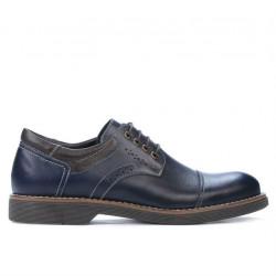 Pantofi casual barbati 848 indigo+cafe