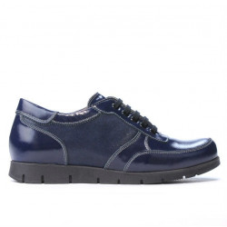Women sport shoes 682 patent indigo combined