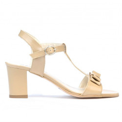 Women sandals 1257 patent beige