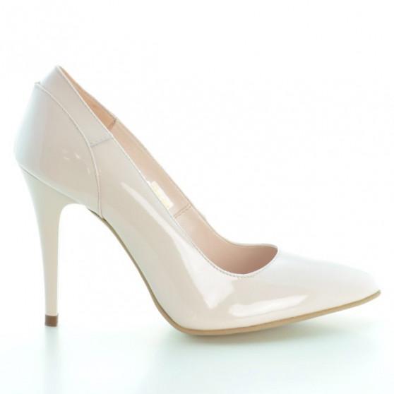Women stylish, elegant shoes 1230 patent light pink