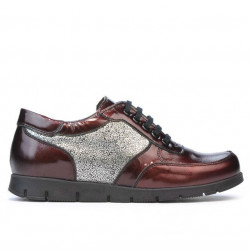 Women sport shoes 682 patent bordo combined