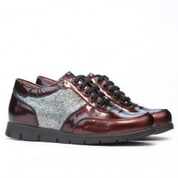 Women sport shoes 682 patent bordo combined