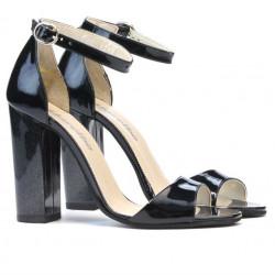 Women sandals 1259 patent indigo pearl