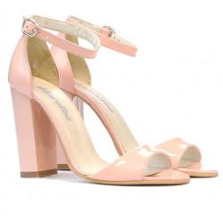 Women sandals 1259 patent light pink