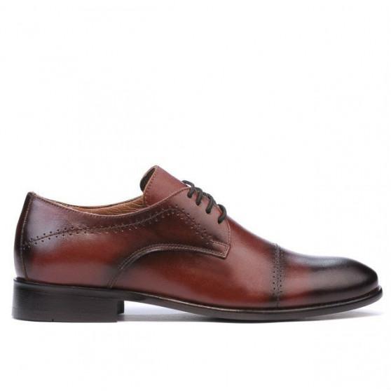 Men stylish, elegant shoes 822 a cognac