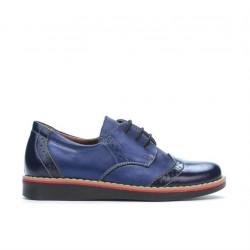 Pantofi copii mici 60c lac indigo combinat01