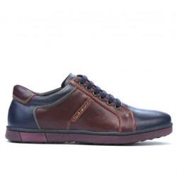 Men sport shoes 849 indigo+bordo