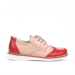 Small children shoes 60c patent red+beige01