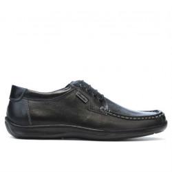 Men loafers, moccasins 818-1 black