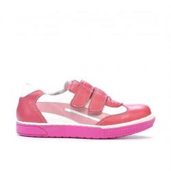 Pantofi copii mici 16-2c roz+alb