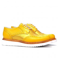 Women casual shoes 663-1 yellow combined