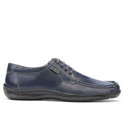 Men loafers, moccasins 818-1 indigo