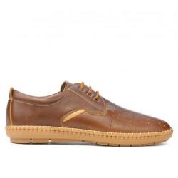 Men loafers, moccasins 871 brown