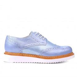 Pantofi casual dama 663-1 bleu sidef combinat