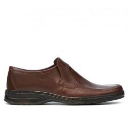 Men stylish, elegant shoes 969 brown