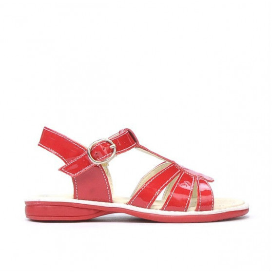 Small children sandals 53-1c patent red