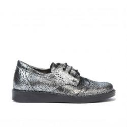 Pantofi copii mici 60c argintiu sidef