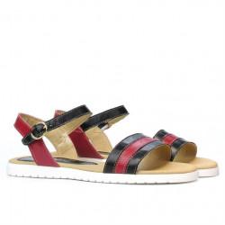 Women sandals 5037 black+bordo