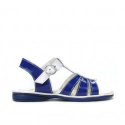 Small children sandals 53c patent blue+white