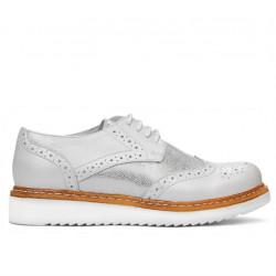 Pantofi casual dama 663-1 alb sidef combinat