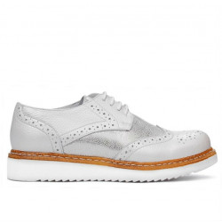 Women casual shoes 663-1 white pearl combined