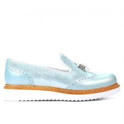 Pantofi casual dama 659 turcoaz combinat