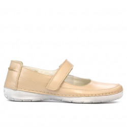 Women loafers, moccasins 685 beige