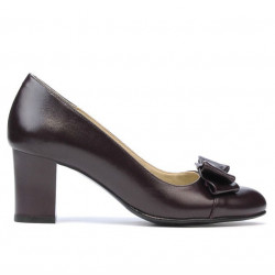 Women stylish, elegant shoes 1265 bordo