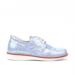Small children shoes 60c bleu pearl