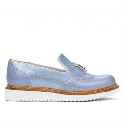 Pantofi casual dama 659 bleu sidef combinat