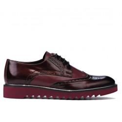 Men casual shoes 831 patent bordo combined