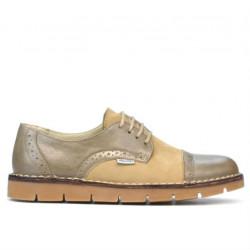 Pantofi casual dama 7001-1 nisip combinat