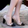 Pantofi eleganti dama 1262 lac bej+negru lifestyle