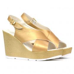 Women sandals 5025 golden