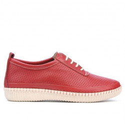 Women loafers, moccasins 688 red