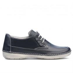 Women loafers, moccasins 672ms indigo