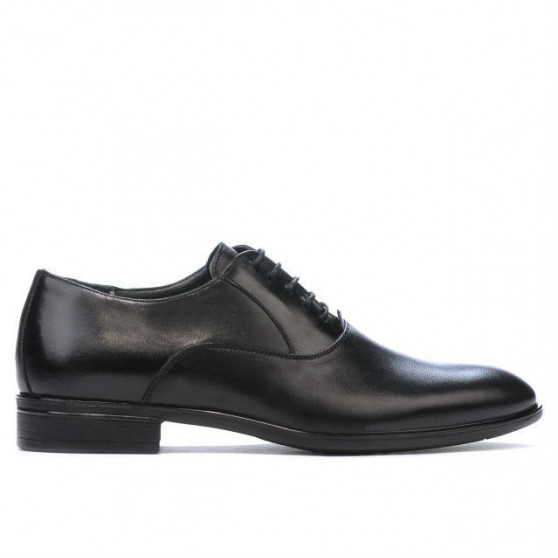 Men stylish, elegant shoes 876 black