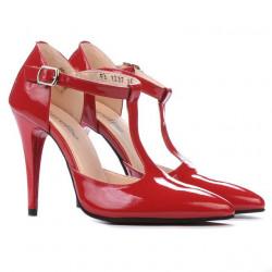 Sandale dama 1237 lac rosu