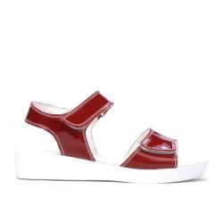 Children sandals 532 patent bordo