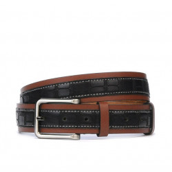 Men belt 18b croco black+brown
