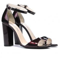 Women sandals 1259 patent bordo
