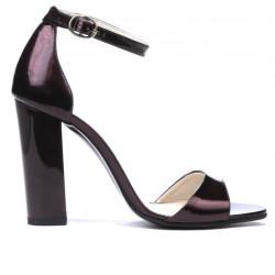 Sandale dama 1259 lac bordo