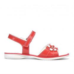 Sandale copii 524 lac rosu corai