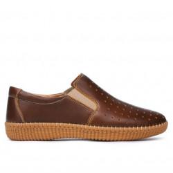 Women loafers, moccasins / adolescenti 689 brown