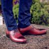 Men stylish, elegant shoes 828-1 a brown