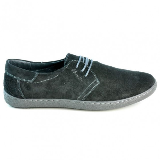 Pantofi casual barbati 774 negru velur